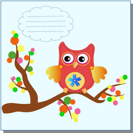 wild nature wood: little sweet owl message