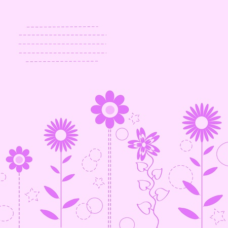 pink flower background for art projects, pamphlets, brochures or cards  Vector