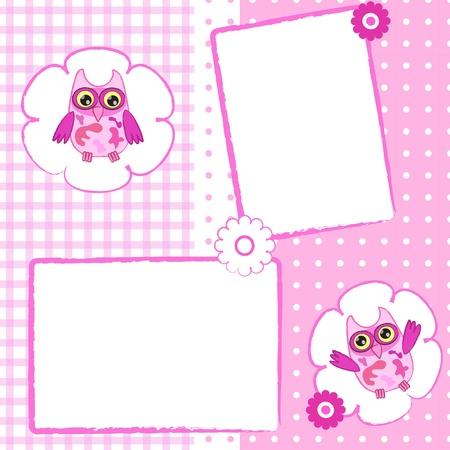 Baby invitation card . Иллюстрация