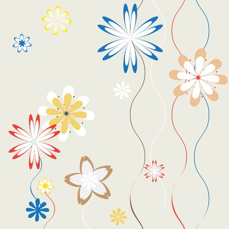 spring flowers background for art projects, pamphlets, brochures or cards Vector