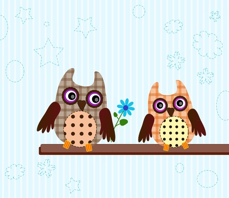 funny little owls Vector