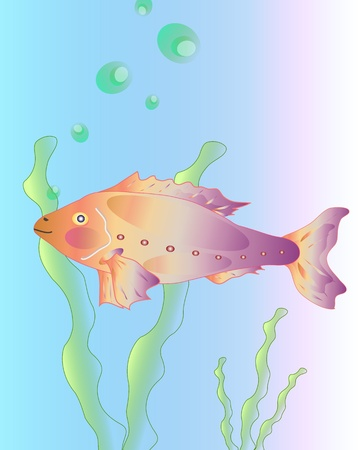 salmon leaping: decorative fish