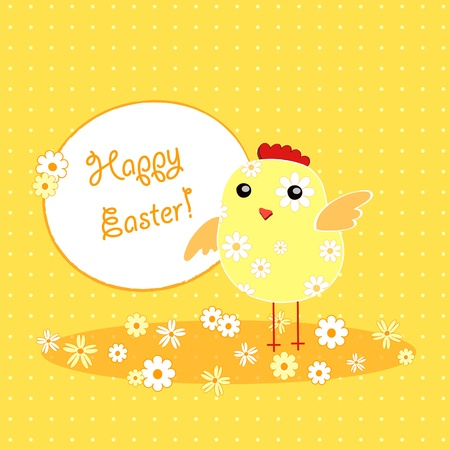vector background with holiday Easter chicken Stock Vector - 12795694