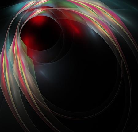 elegant abstract fractal background photo