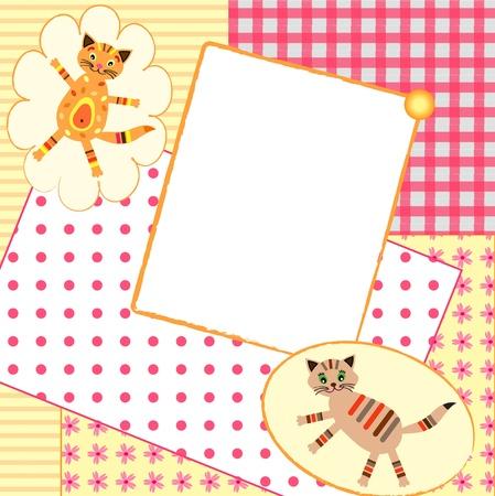 Baby  Invitation card . Vector