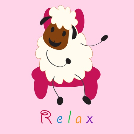 bleating: cute doodle sheep