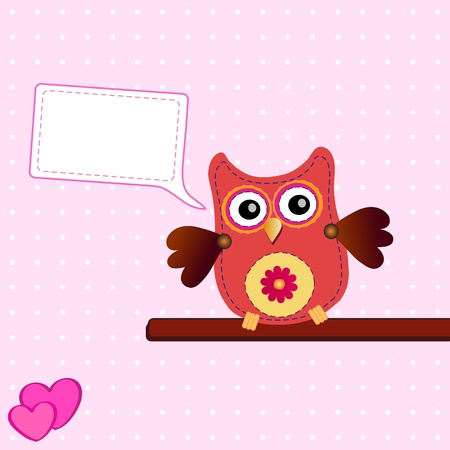 little sweet owl  Vector