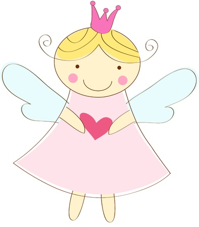 little angel greeting card Vector