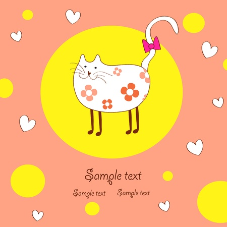 amusing lady-cat Vector