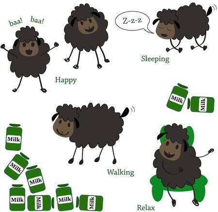 Doodle sheep set Stock Vector - 13251901