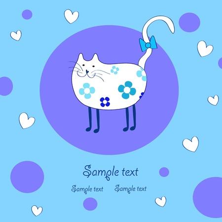 amusing white cat Stock Vector - 13252230