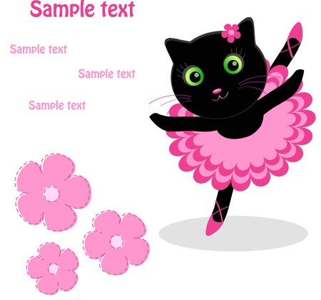 cute cat: sweet little dancer Illustration