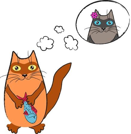 dreaming cat Stock Vector - 13294869