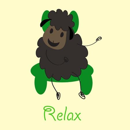 Doodle sheep set Stock Vector - 13483798