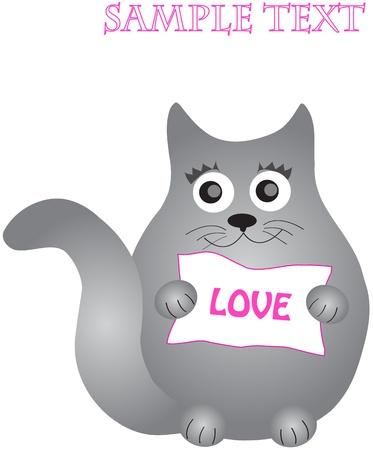 siluet: nice card  black cat