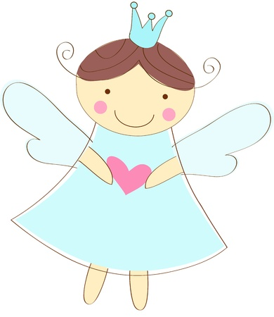 angel girl: little angel greeting card