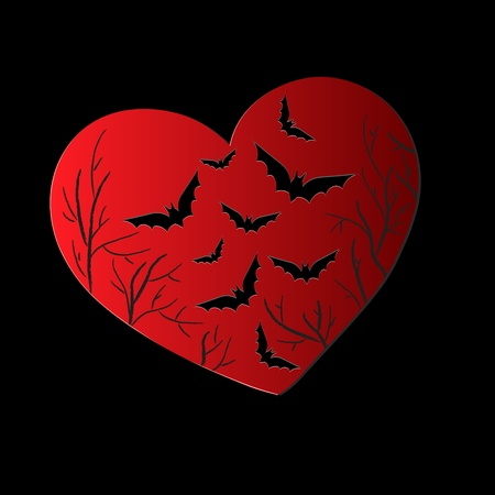 Scars of heart Vector