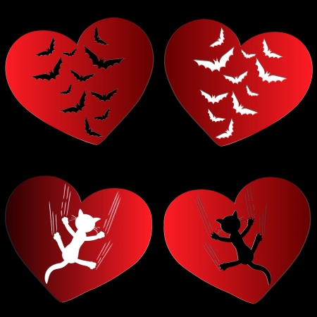 Scars of heart Vector