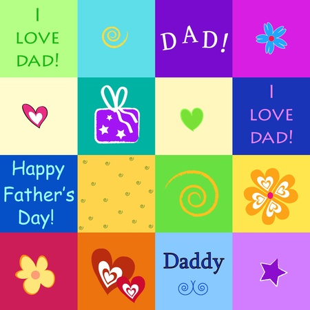 happy father's day Stock Vector - 13817507