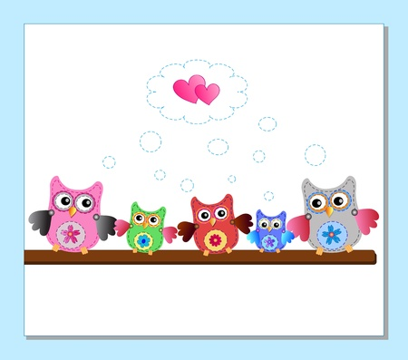 little sweet owls Vector