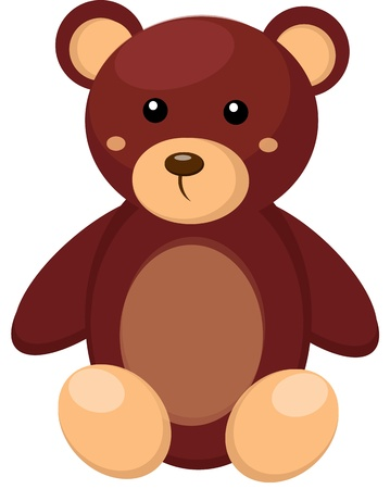 Little teddy bear toy Vector