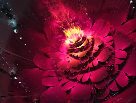 abstract floral fractal background  for art projects photo