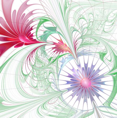 elegant abstract fractal background  photo