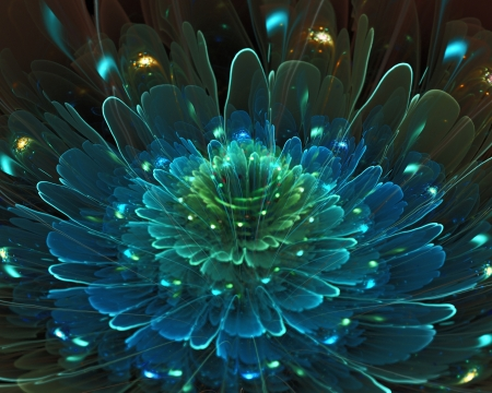 fractal: abstract floral fractal background  for art projects Stock Photo