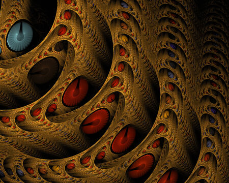 apophysis: abstract fractal background on the black for art project