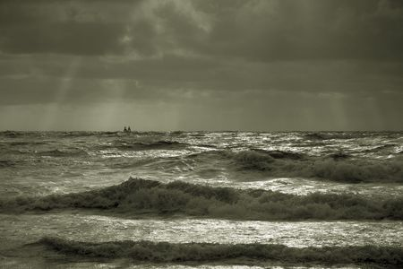 stormy atmosphere on the north sea