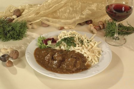 seasonal venison dish   Stock Photo