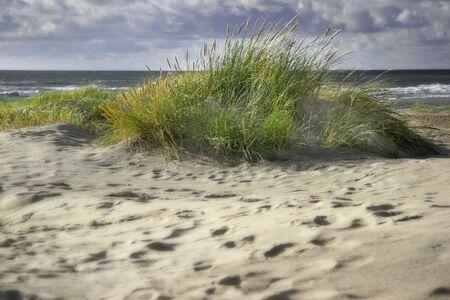 strange atmosphere at the beach Stock Photo