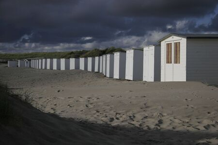 beach cottages in the netherlands 2 Stock Photo