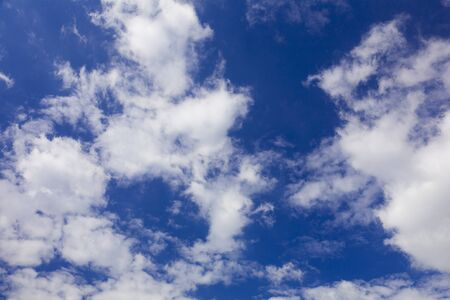 clouds, deep blue sky freedom