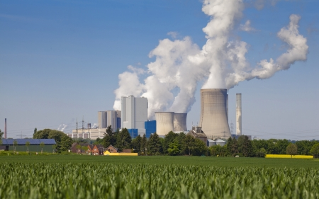 air pollution power plant Stock Photo