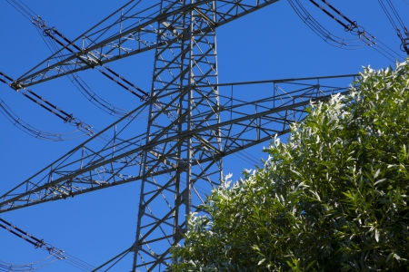 electricity energy pylon Stock Photo