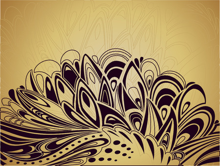 peafowl: Abstract Easter background with curve elements Illustration