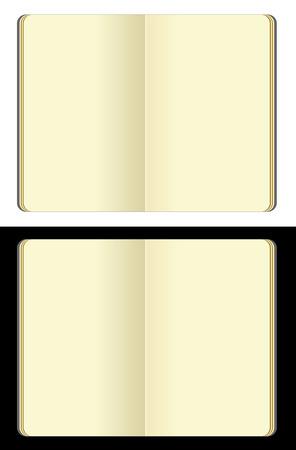 opened blank moleskine note books Vector