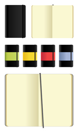 moleskine notebooks set - cutout on white Vector