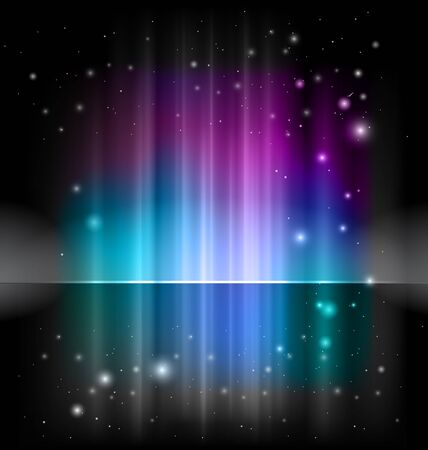 borealis: abstract shiny background Stock Photo