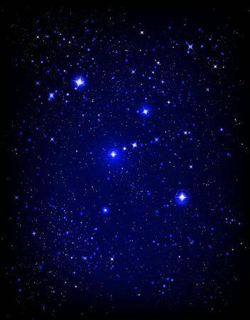 constelaciones: cielo de noche estrellada y Oron nebulosa  Foto de archivo