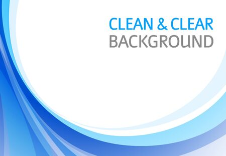 Horizontal abstract blue background for business presentation Stock Photo