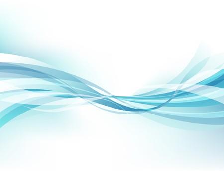 lineas onduladas: Fondo de negocio ondulado de resumen azul