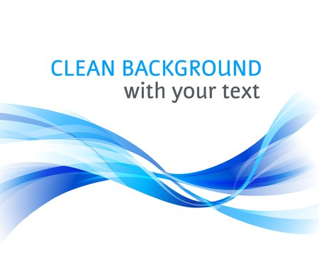 gloss banner: Vector horizontal abstract blue wave clean background Stock Photo