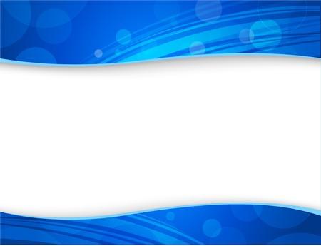Elegant blauw achtergrond met header, footer en een ruimte voor uw tekst - in de brief format