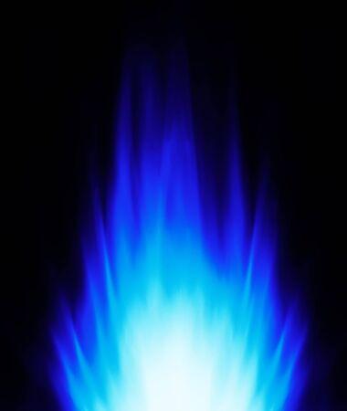 Blue flame energy background Stock Photo - 7859965