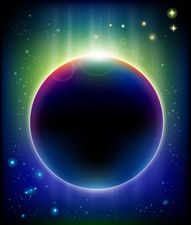 eclipse powerful background photo