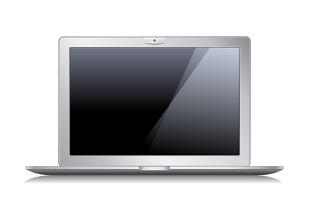 laptop isolated on white background Stock Vector - 7860176