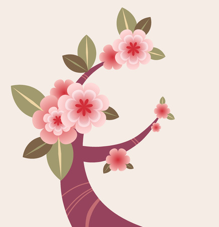 flor de sakura: rama de un �rbol en flor