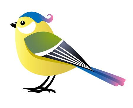 hembra de aves de dibujos animados  Ilustración de vector
